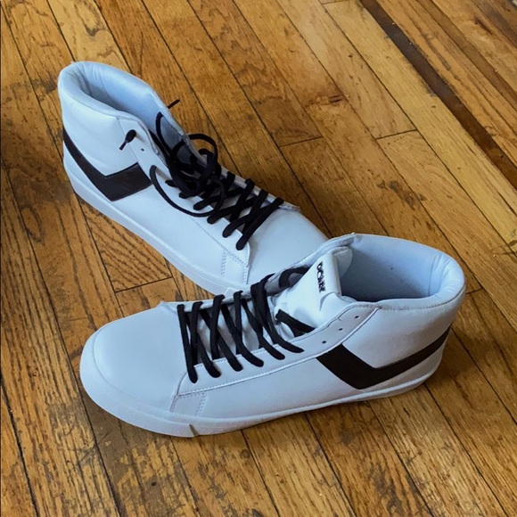 Pony Shoes | High Tops White Black Size